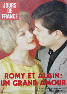 Shots: Romy Schneider and Alain Delon at the French Riviera (la Cote d'Azur)